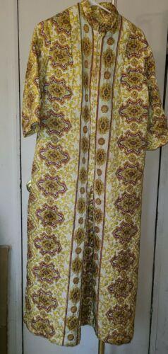 1950s-1960s Quilted Jumpsuit Romper, Paisley Patt