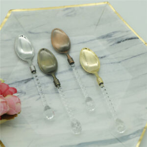 Crystal-Handle-Small-Coffee-Spoon-Sugar-Tea-Dessert-Cutlery-Kitchen-Tableware-BR