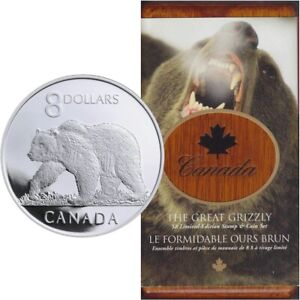 Grizzly-Bear-2004-Canada-8-Coin-amp-Stamp-Set