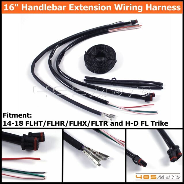 1 set motorcycle ape hanger handlebar extension wiring harness for h-d fl  trike for sale online | ebay