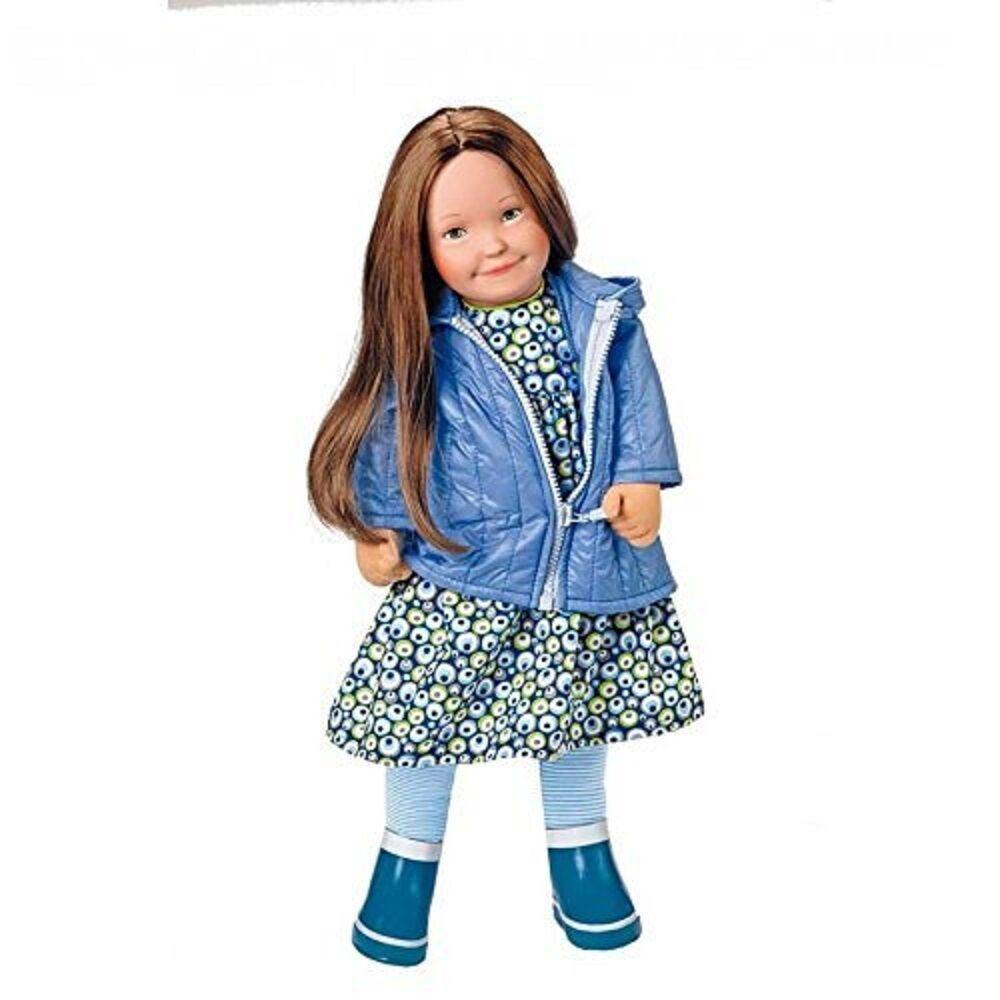 Käthe Kruse Puppe Lolle Frida, 54 cm, lange braune Haare