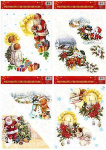 fensterbild fensterdeko wandbild weihnachten advent fenstersticker sticker a3 ebay. Black Bedroom Furniture Sets. Home Design Ideas