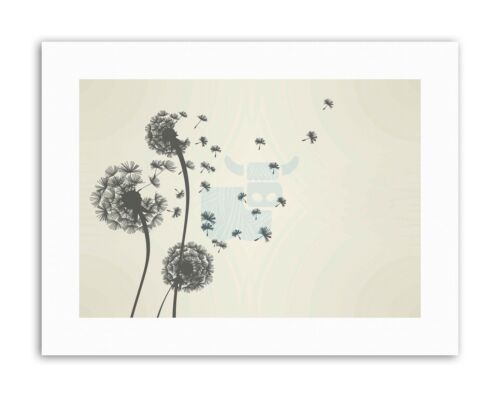 PLANT DANDELION SEED WISHES Painting Nature Canvas art Prints