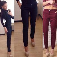 UK Sexy Women Ladies Leggings Jeggings Stretch Skinny Pants Pencil Trousers