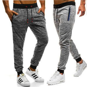 Men Long Casual Sport Pants Gym Trousers Pocket Running Joggers Gym Sweatpants G