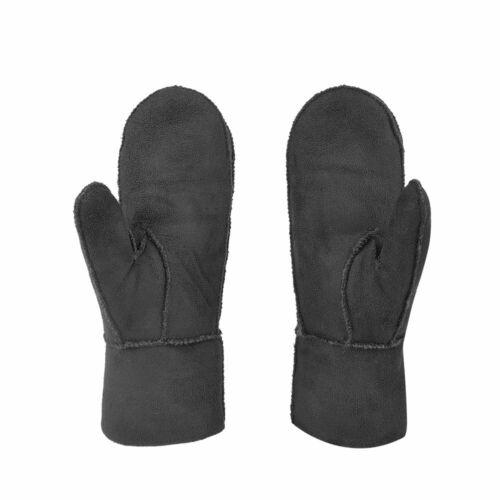 Outdoor Winddicht Warme Faux Lammfell Handschuhe Fausthandschuhe Fäustlinge