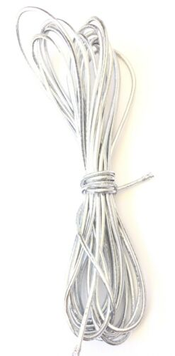 2mm Beading Silver Round Elastic Stretchy Cord 10 Yards