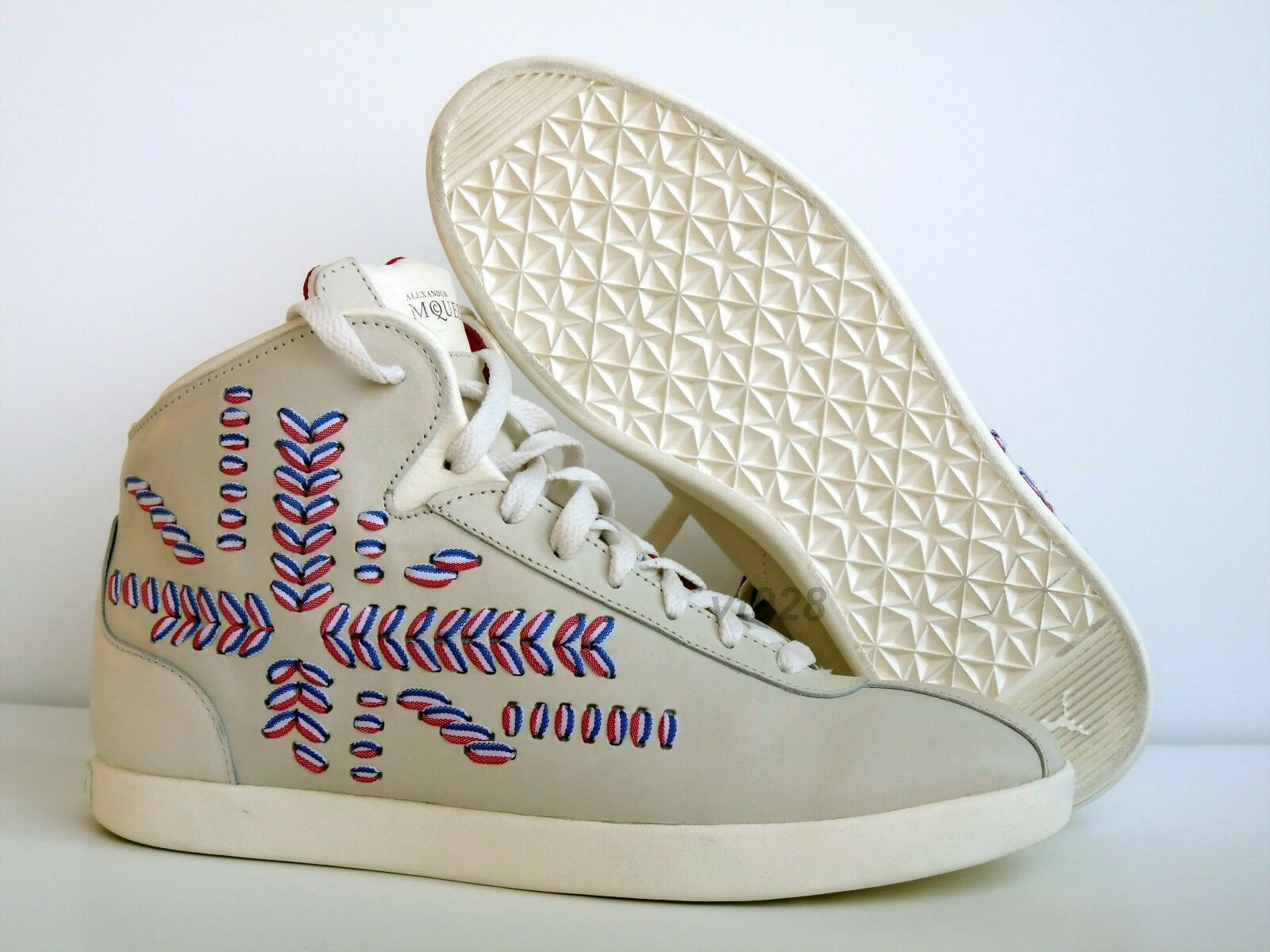 Nuevo En Caja Puma Alexander Mcqueen AMQ medius Mid De Cuero Para Mujer Zapatos Todos Los Tamaños