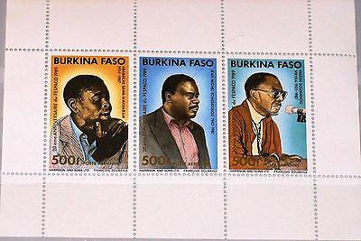 Afrika Hilfreich Burkina Faso 1989 Block 131 S/s 872 Fespaco Film Festival Actors Schauspieler ** Herausragende Eigenschaften Briefmarken
