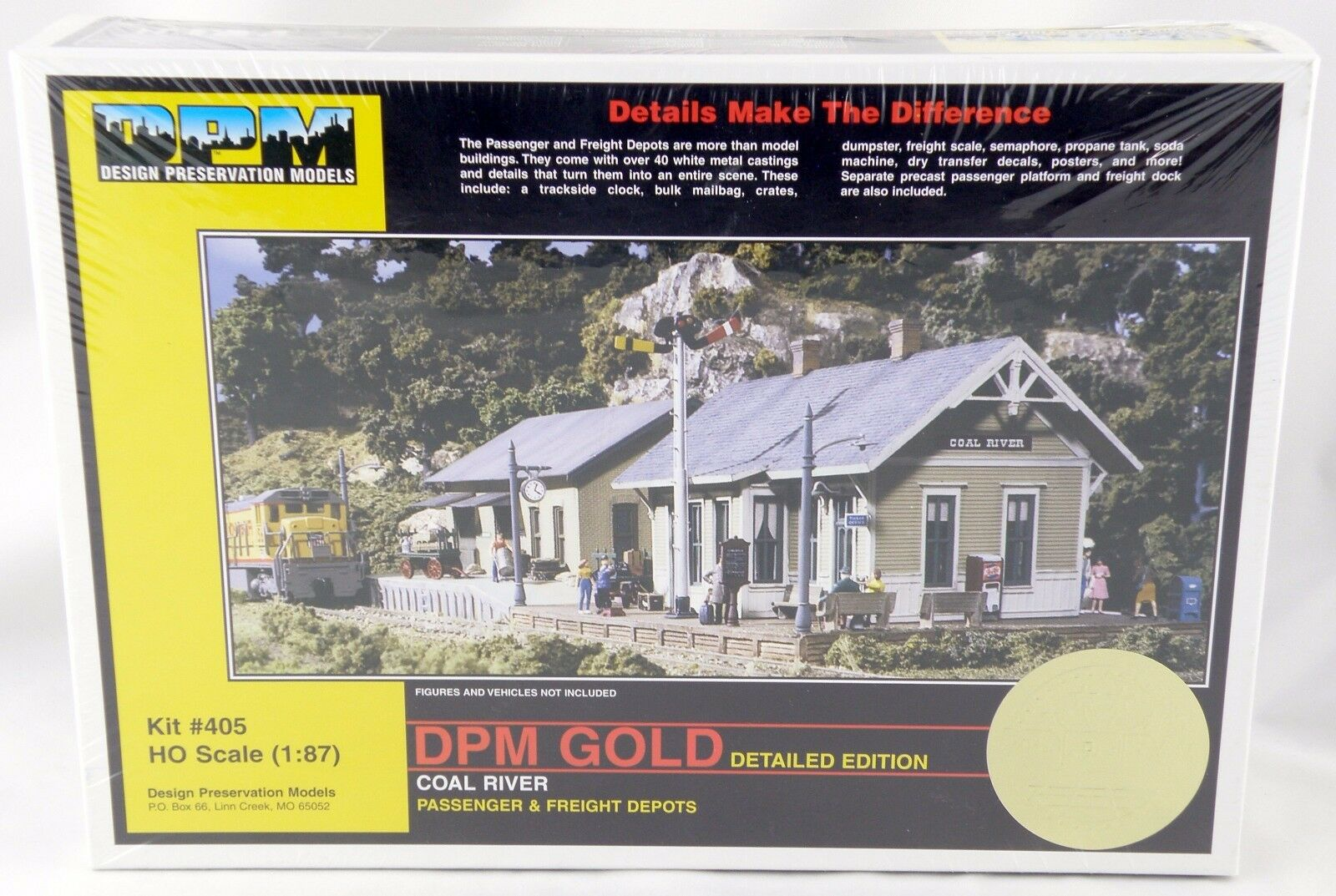 HO Scale Coal River Passenger & Freight Depots Kit - DPM oro  405