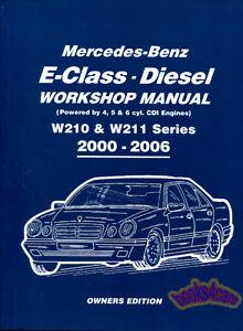 SHOP    MANUAL MERCEDES    SERVICE    REPAIR BOOK CDI W210 W211   eBay