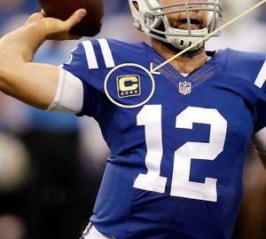 Details about 2016 SEASON INDIANAPOLIS COLTS' ANDREW LUCK CAPTAINS FOUR-GOLD-STAR BLUE C-PATCH