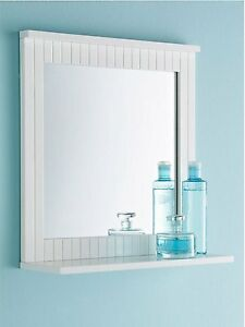 Image Is Loading TONGUE Amp GROOVE BATHROOM WOODEN WALL MIRROR SHELF