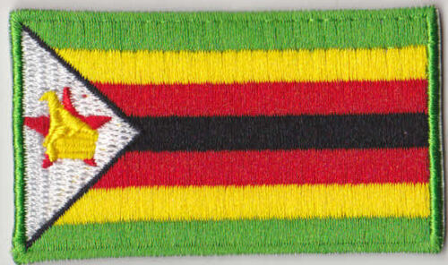 Zimbabwe Country Flag Embroidered Patch T4