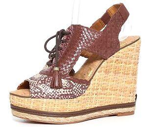 3336fcecd5a7cc Sam Edelman Women s Tinley Lace Up Wedge Platform Sandals Wine Brown ...