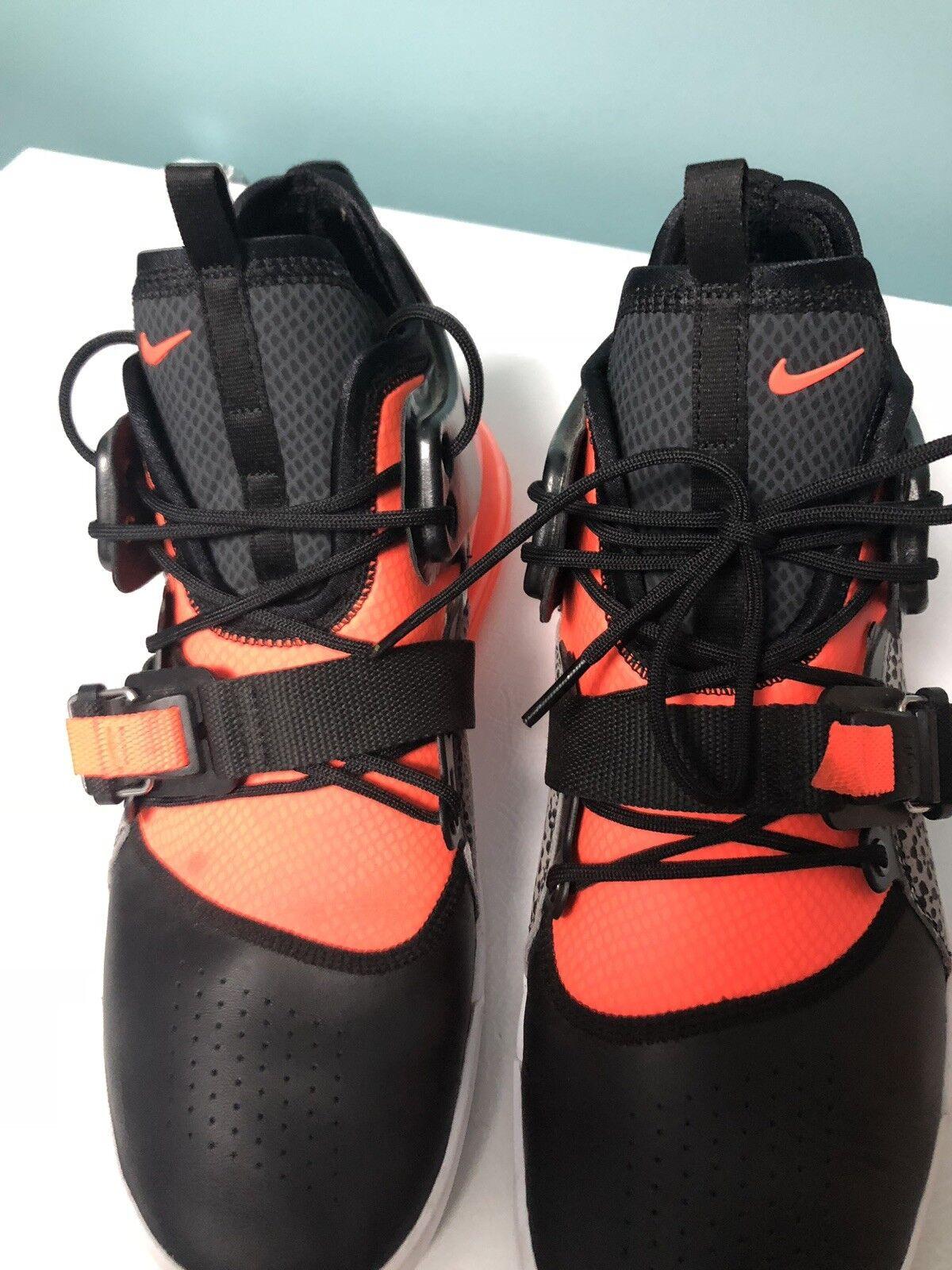 nike air Noir force 270 Noir air  orange   baskets taille 11,5 rare nous aa406c