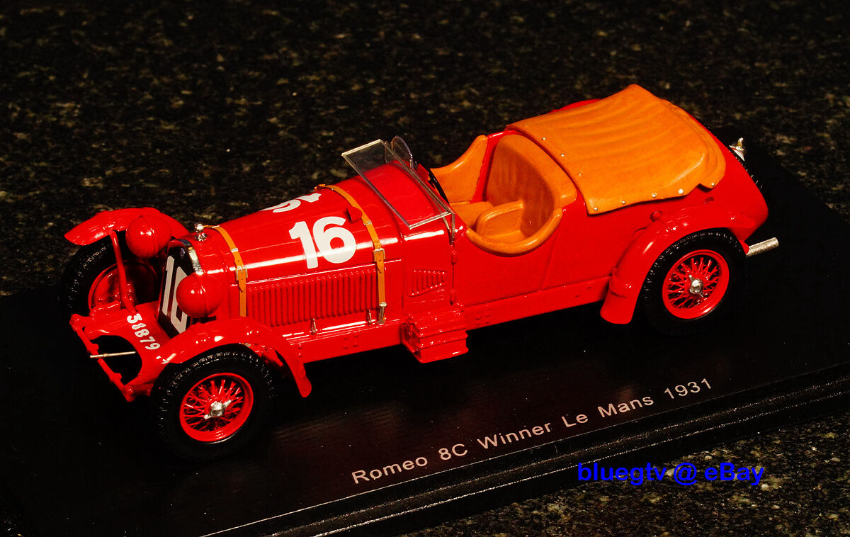 Rare Spark Model 1 43  Alfa Romeo 8C 2300 Le Mans No 16 1931