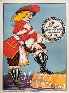 Affiche-Originale-Le-Jean-Bart-Creme-chaussures-Corsaire-Cirage-1930