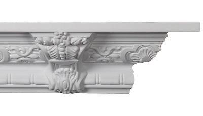 """Crown Moulding - CM-1059 Crown Molding White Polyurethane 8-1/4""""  - 5 pcs"""
