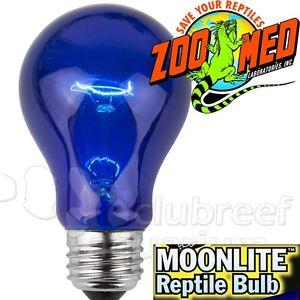 Details about MoonLite Blue Incandescent Reptile Terrarium Bulb Zoo Med 40 60 or 100 Watt