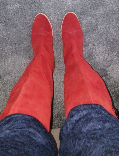 Red United Colours Boots Benetton Of Size 6 4qzvqPrW