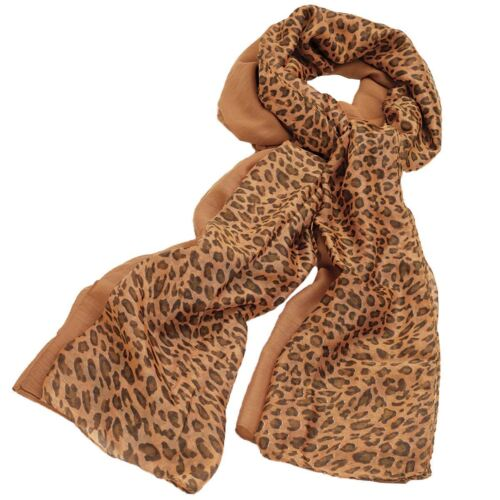 New Womens Two Piece Animal Print Two Tone Colored Scarfs Leopard Print Shawls