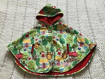 Cordiale Bambino Neonato's Vintage Style Filastrocca Little Red Riding Hood Giacca Cape.-mostra Il Titolo Originale Moderno Ed Elegante Nella Moda
