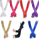 Women Lady Formal Bridal Satin Banquet Party Wedding Opera Gloves Gift Long 21