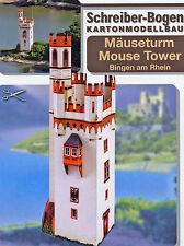 Mäuseturm bei Bingen am Rhein 1:87 (H0) Bastelbogen J.F. Schreiber Kartonmodell