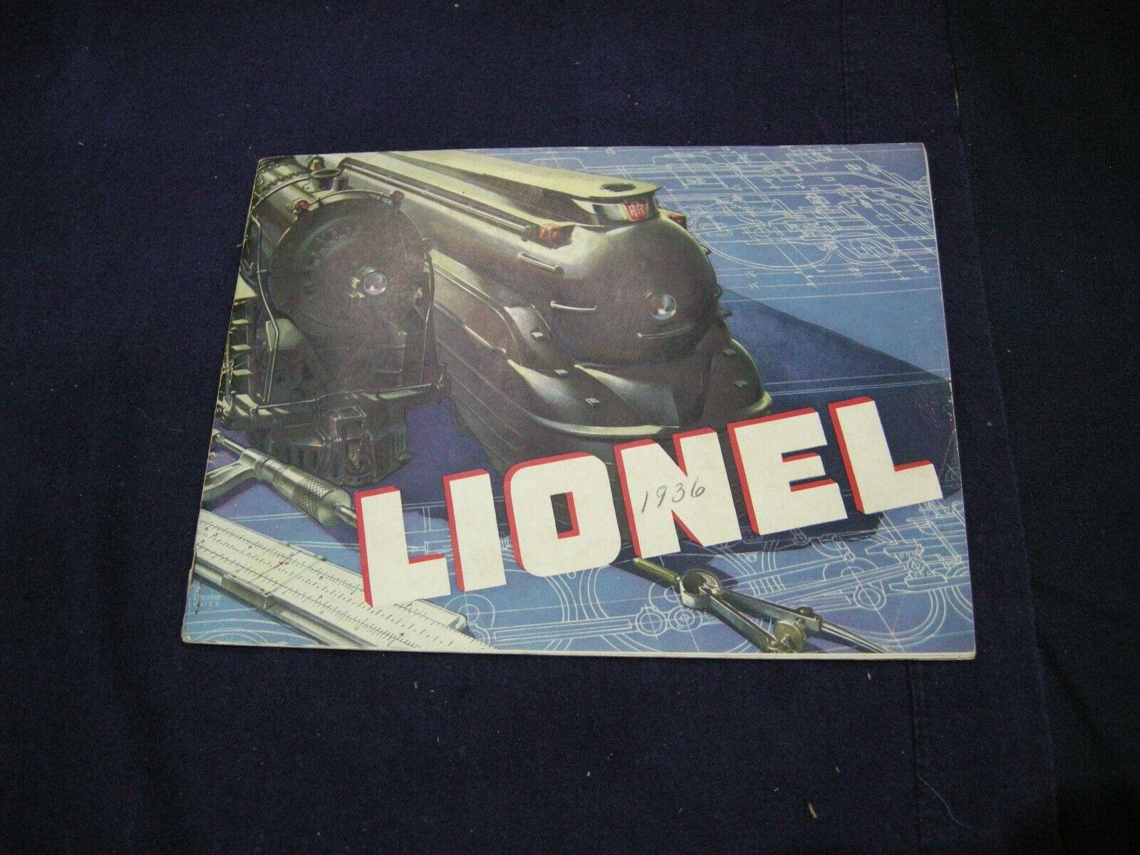 LIONEL CATALOG 1936  TYPE III III III completare AS mostrareN 083973