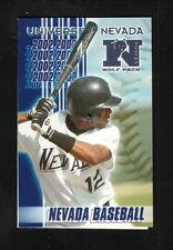 2002 Nevada Wolf Pack Baseball Schedule--Les Schwab Tires