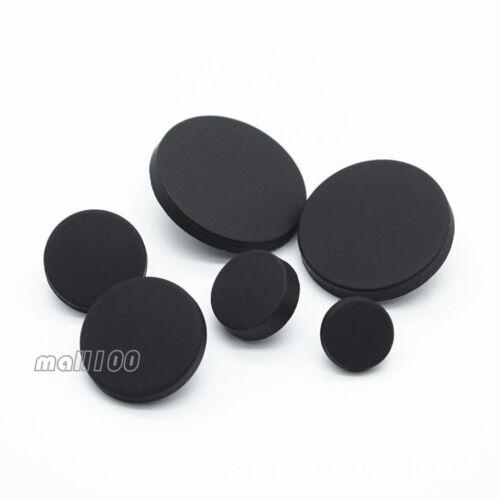 12pcs Matte Black Shirt Shank Metal Round Button Sewing Coat Craft Embellishment