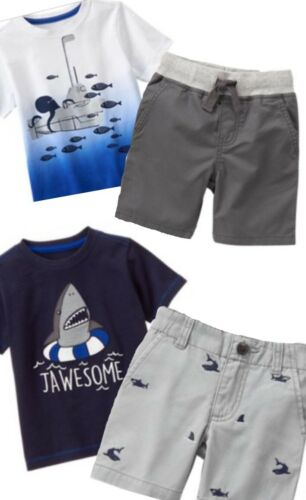 Gymboree Jawsome 2T 3T 4T Shark Sets Outfits Submarine Ocean Blue