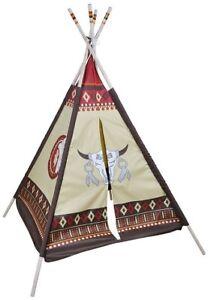 Tipi indien enfant 127 x 127 x 170 cm - Tente de jeu intérieur ...