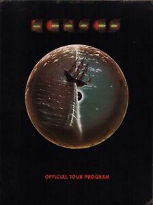 KANSAS 1977 POINT OF KNOW RETURN TOUR CONCERT PROGRAM BOOK BOOKLET / EX 2 NMT