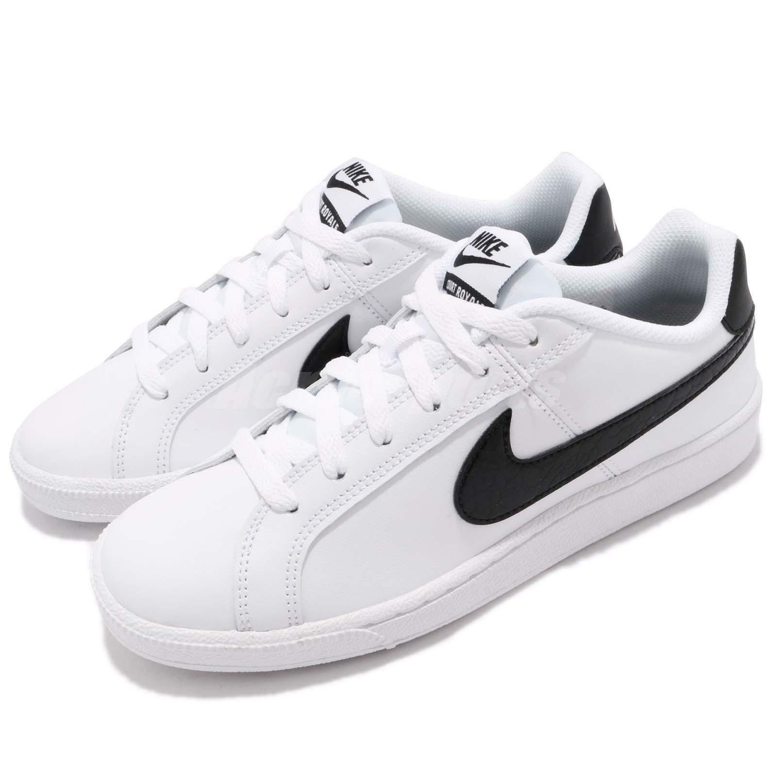 Wmns Nike Court Royale Low White Black Women Shoes Sneakers  749867-111