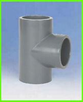 PVC T-Stück 90° egal d = 50, 3 x Klebemuffe