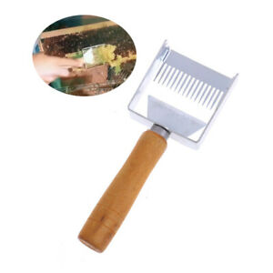 Stainless-Steel-Bee-Hive-Uncapping-Honey-Fork-Scraper-Shovel-Beekeeping-Tool-D