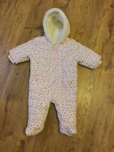 69e5f9908 pink ditsy floral hooded all in one coat snowsuit from next size up ...