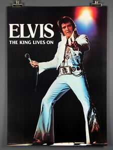 Image Is Loading Elvis Presley The King Lives On Rare Poster