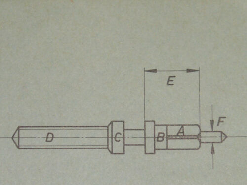 "Lemania winding stem 13/""/' 13CH chrono tige de remontoir Aufzugswelle Ronda 614"