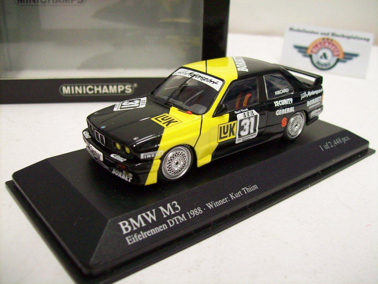 BMW m3    e30   31  LUK  DTM 1988, Kurt Thiim, Minichamps 1:43, OVP cdf0e9