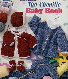 Crochet Chenille Baby Blanket Pattern : Knitting Crochet Pattern Chenille Baby Book Sacque Sweater ...