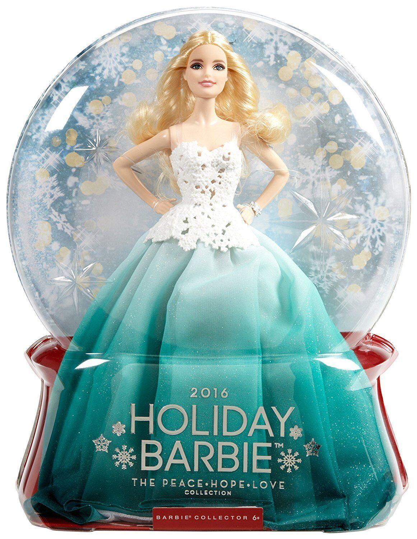 Bambola Barbie MAGIA DELLE FESTE 2016 con Abito Verde DGX98