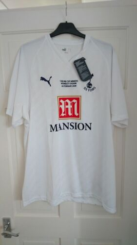 TOTTENHAM Hotspur Spurs 20072008 125 Years Carling Cup Final Shirt Jersey XL