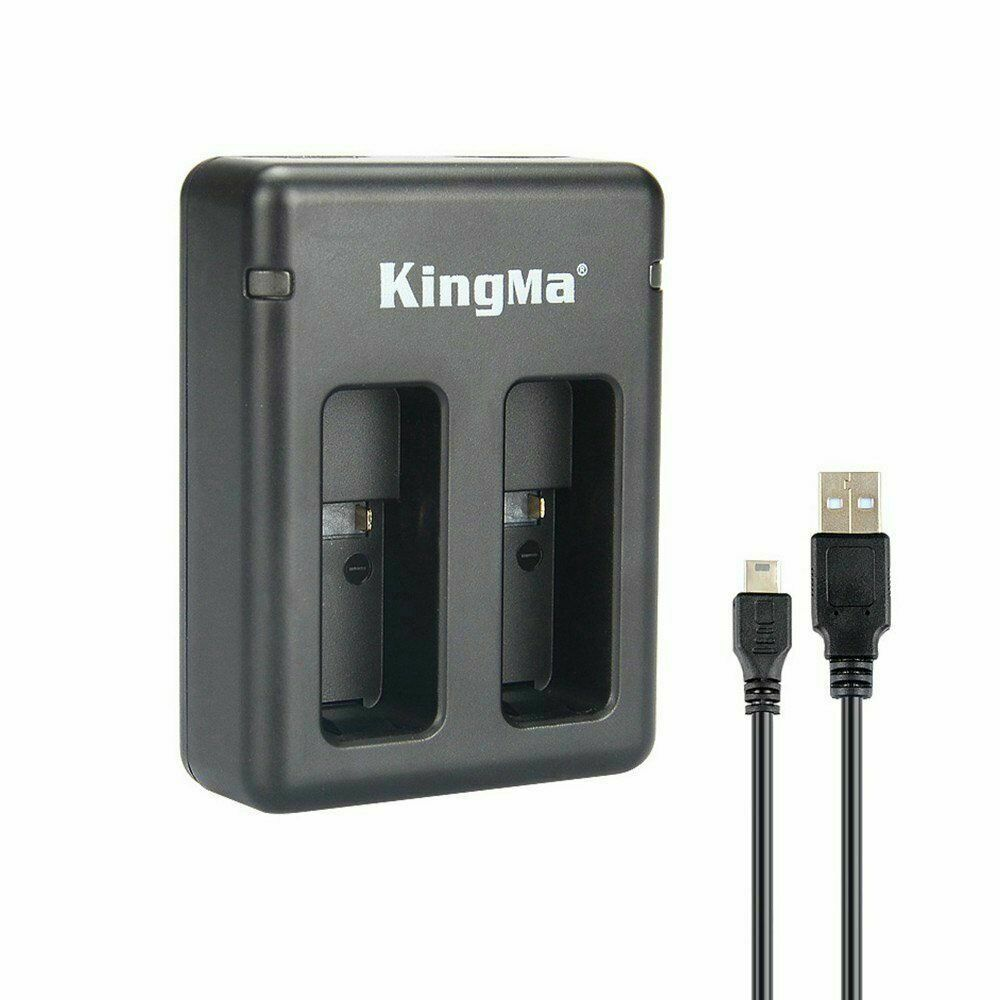 KingMa BM042 Portable Dual USB Battery Charger for GoPro HERO 5 6 Action Camera