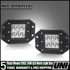 """2PC 4""""  24W 4WD 12V  LED WORK LIGHT BAR Spot OFFROAD ATV FOG TRUCK LIGHT US"""