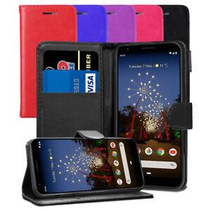 Pour-Google-Pixel-3-A-Premium-Slim-Portefeuille-Cuir-Flip-Case-Book-Folio-Cover