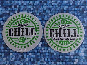 Cool Bière Bar Pub Dessous De Verre  Miller Chill - Light & Lime  Wi Brewing Jlp459no-07214403-376799300