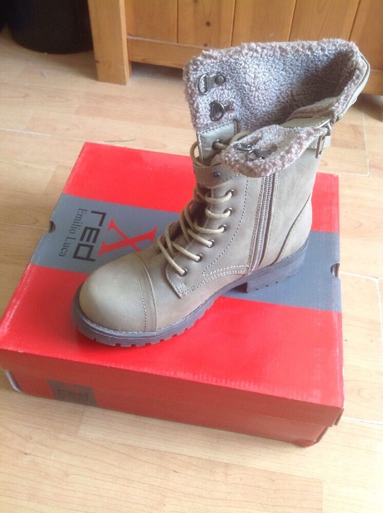 Brilliant Brown Emilio Luca X Charlie Boots Size 2 New Shop Clearance